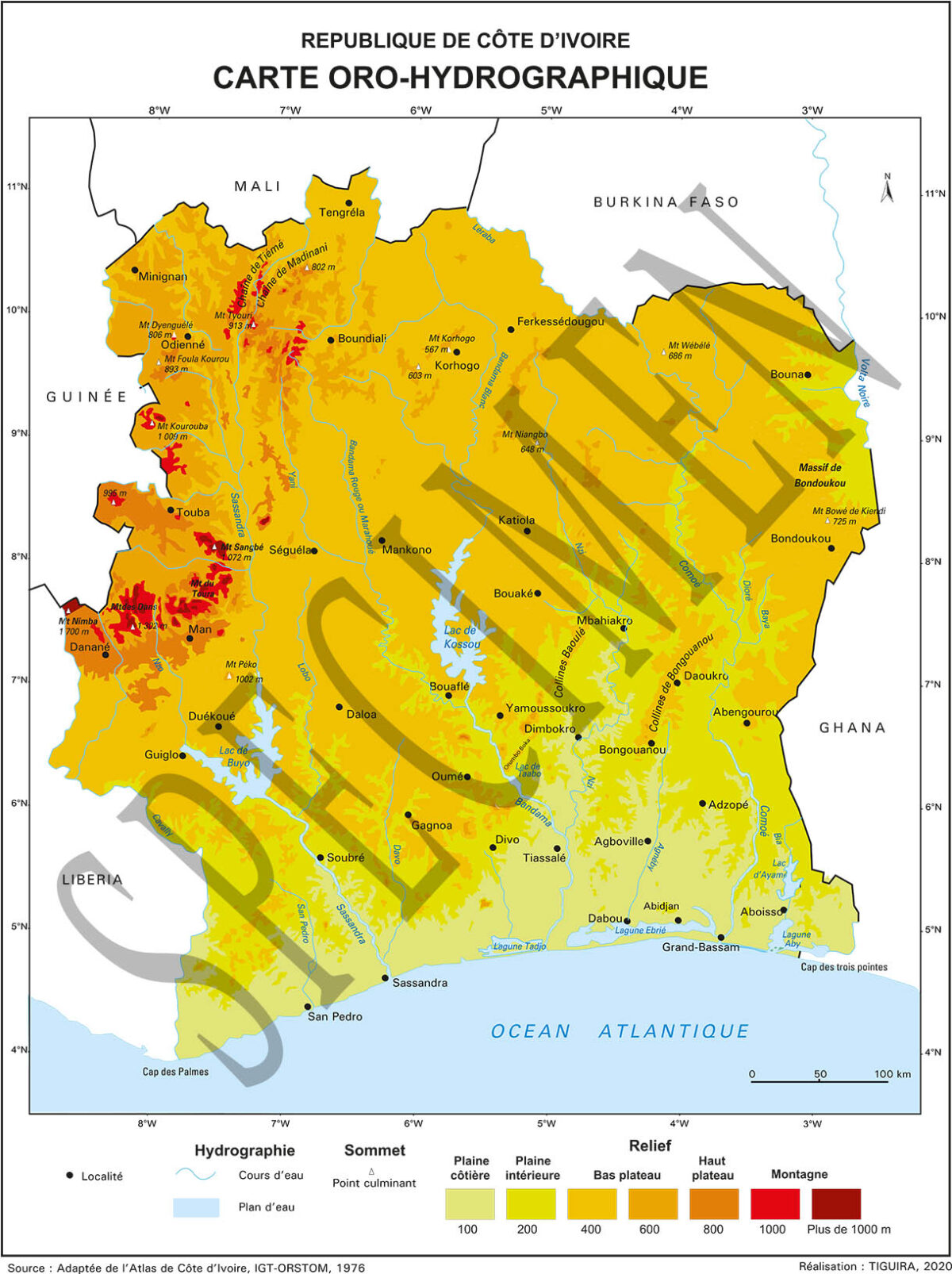 CARTE OROHYDROGRAPHIE